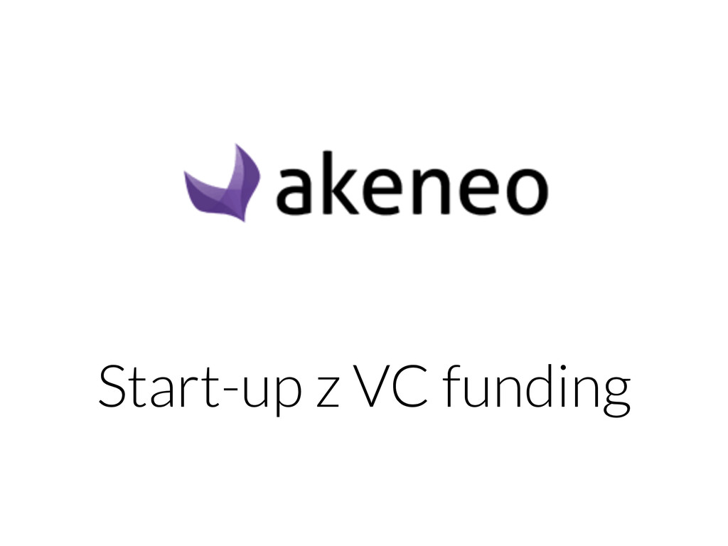 Start-up z VC funding