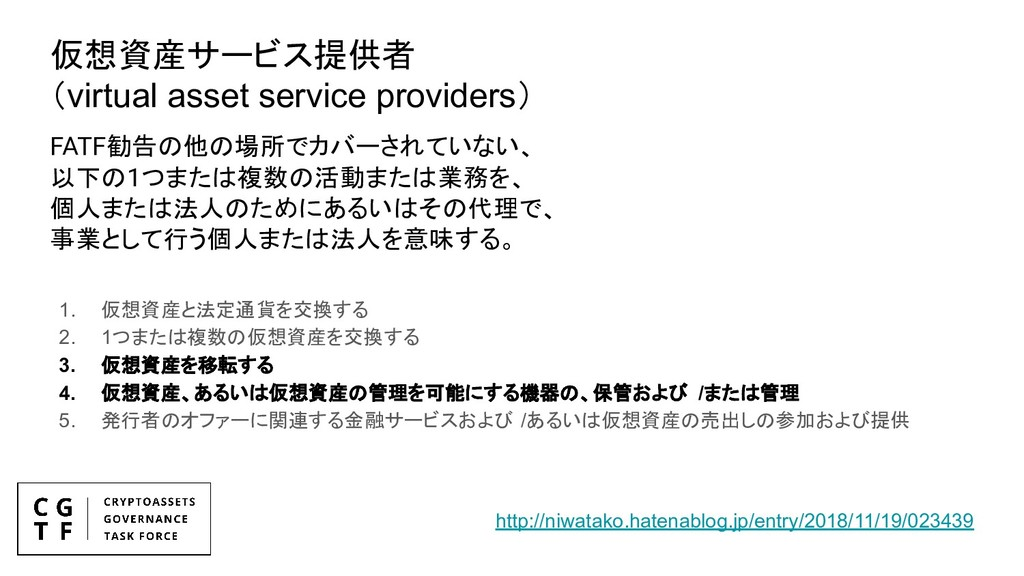 仮想資産サービス提供者 (virtual asset service providers) 1...