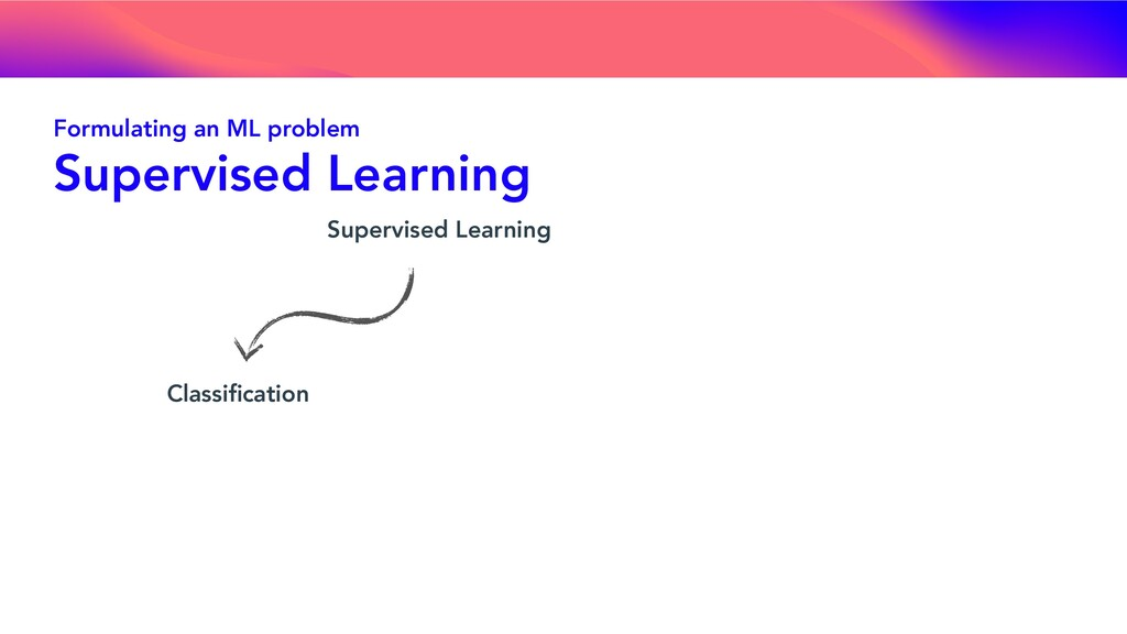 Supervised Learning Classification Formulating a...