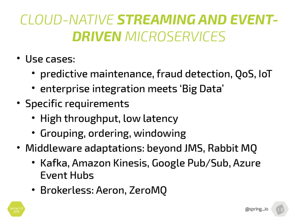 CLOUD-NATIVE STREAMING AND EVENT- DRIVEN MICROS...