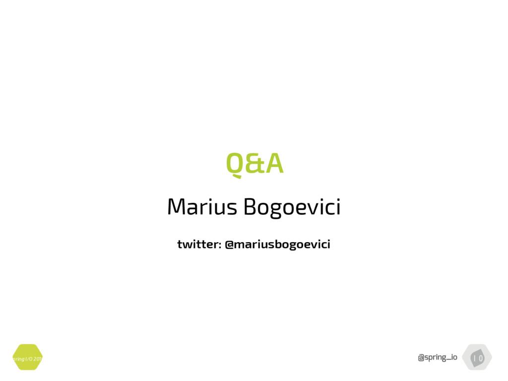 Spring I/O 2016 Q&A Marius Bogoevici twitter: @...