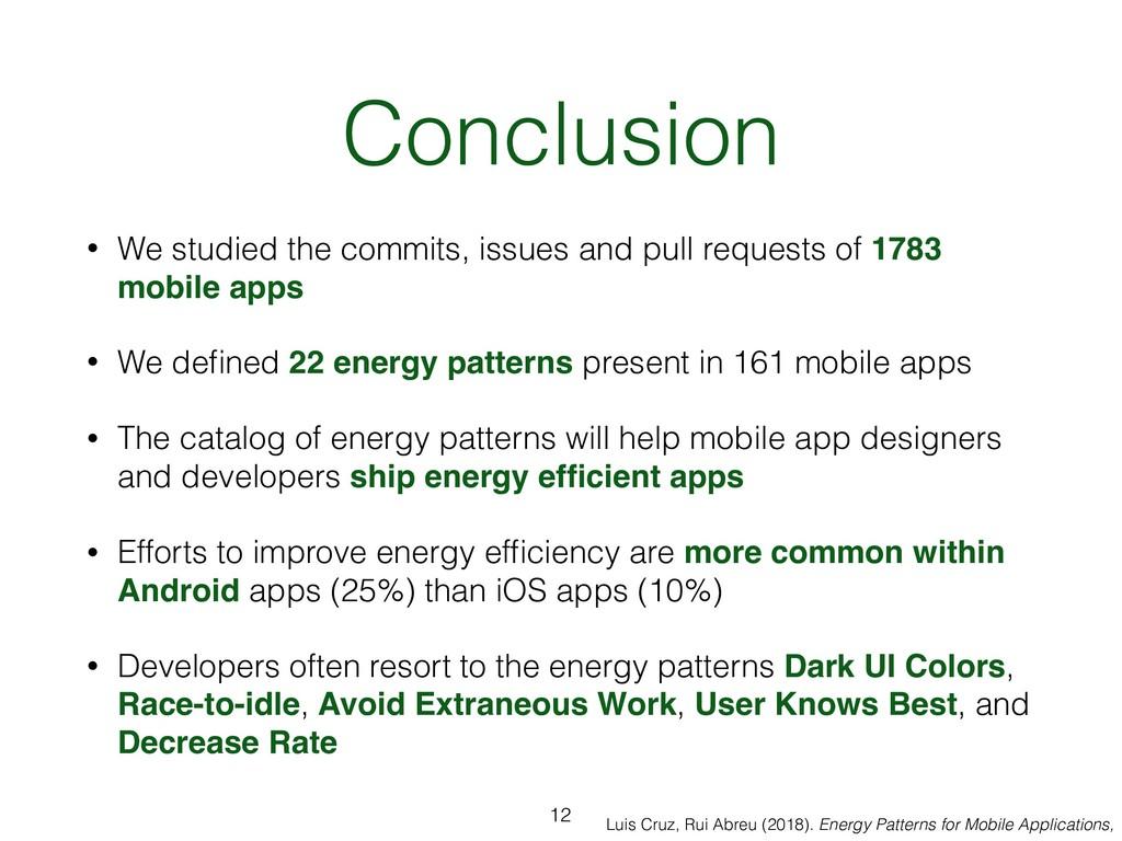 Luis Cruz, Rui Abreu (2018). Energy Patterns fo...
