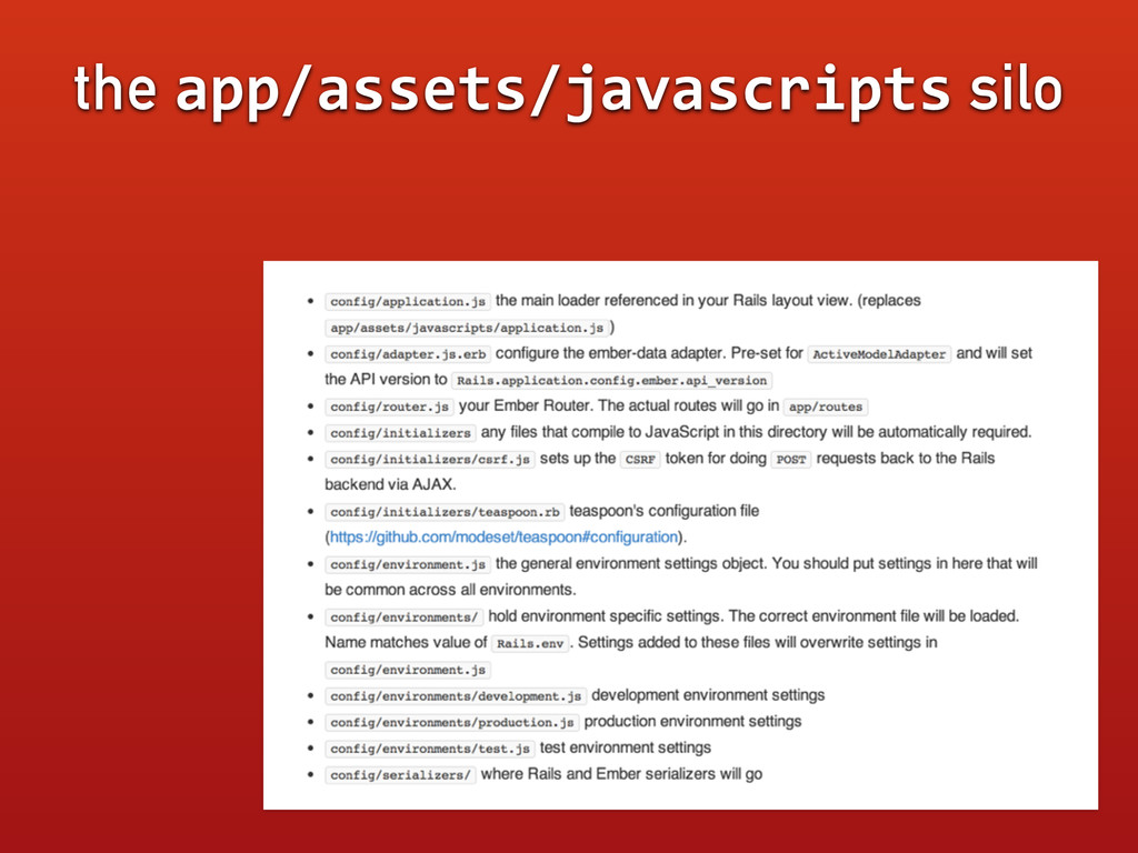 the app/assets/javascripts silo