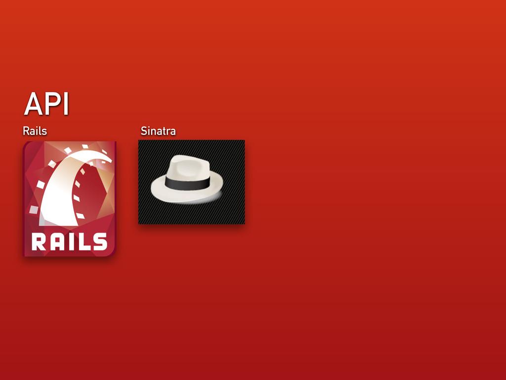 API Rails Sinatra