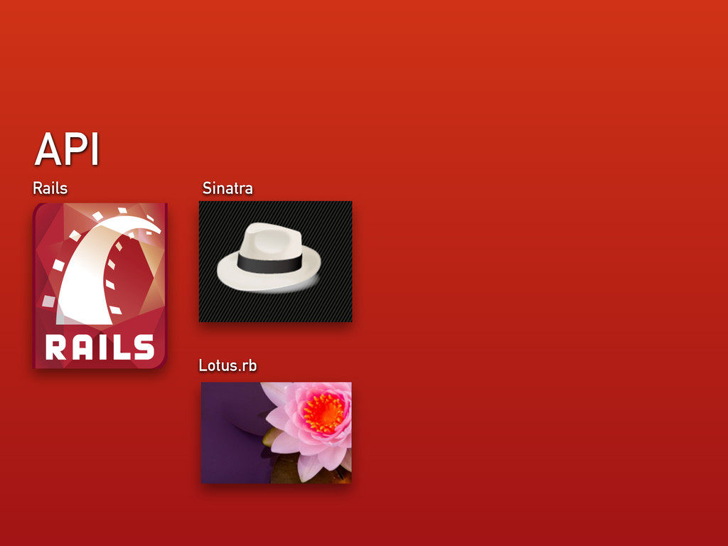 API Rails Sinatra Lotus.rb