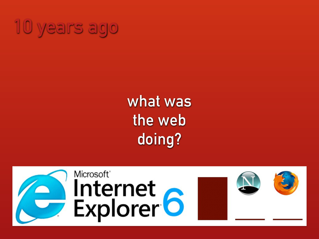 10 years ago what was the web doing?