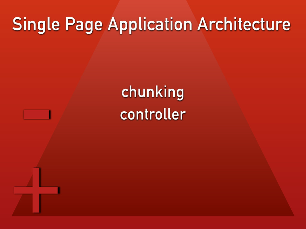 chunking controller Single Page Application Arc...
