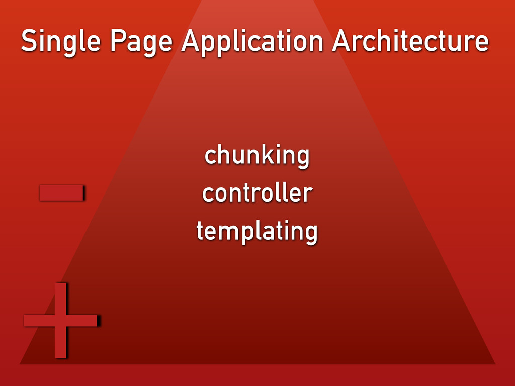 chunking controller templating Single Page Appl...