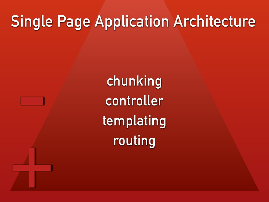 chunking controller templating routing Single P...