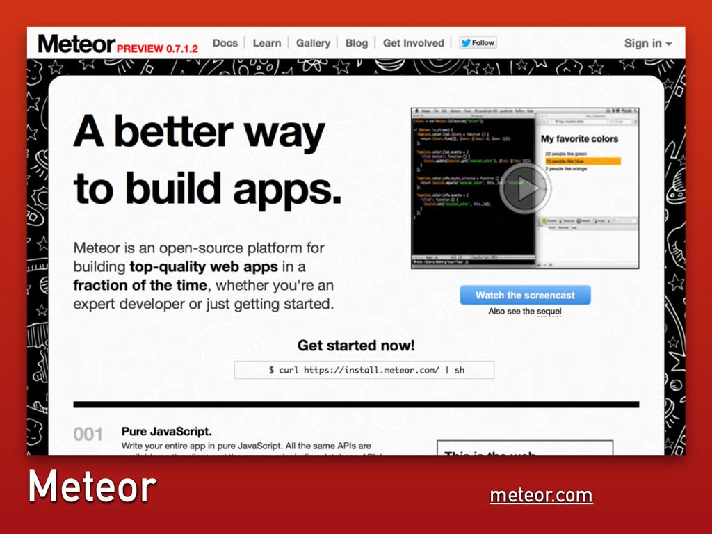 meteor.com Meteor
