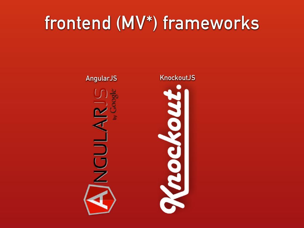 frontend (MV*) frameworks AngularJS KnockoutJS