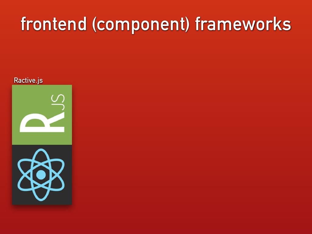 frontend (component) frameworks Ractive.js