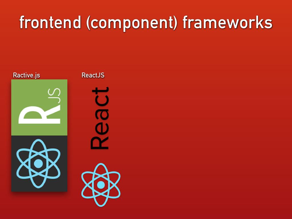 ReactJS frontend (component) frameworks Ractive...