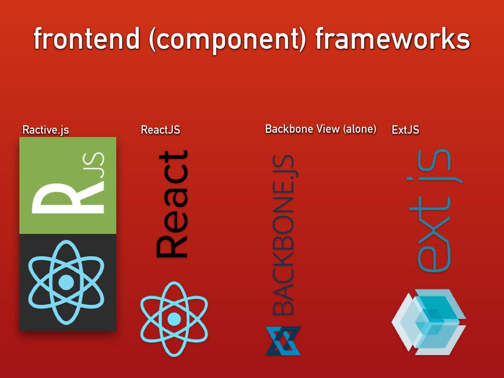 ReactJS ExtJS Backbone View (alone) frontend (c...