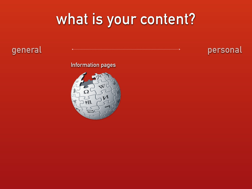 what is your content? Information pages general...