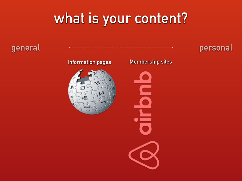 what is your content? Information pages Members...