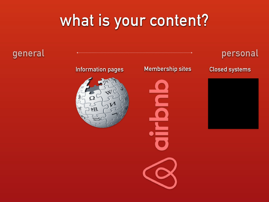 what is your content? Information pages Closed ...