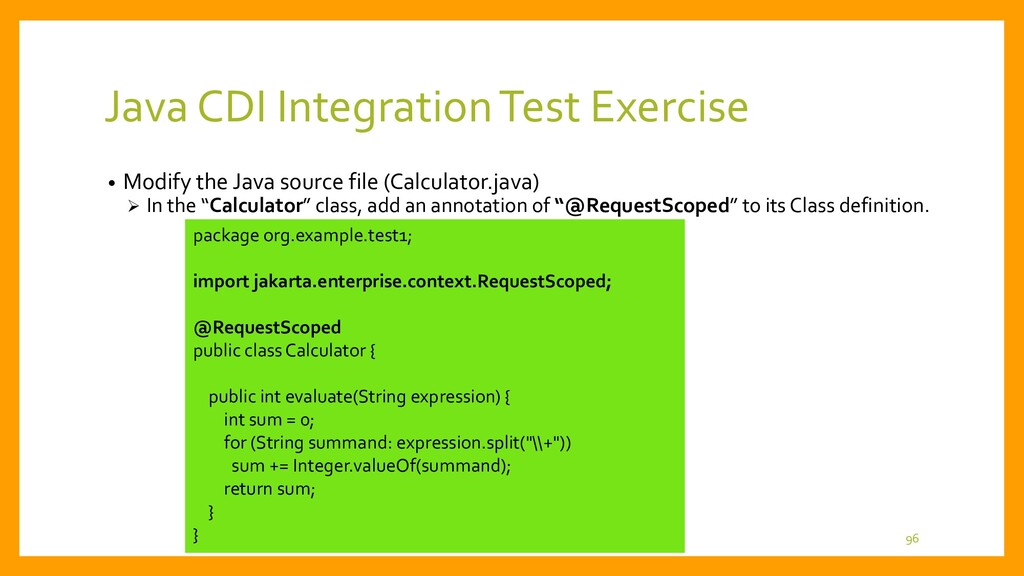 • Modify App.java of simple2 project How to use...