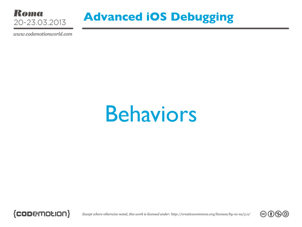 Advanced iOS Debugging Behaviors