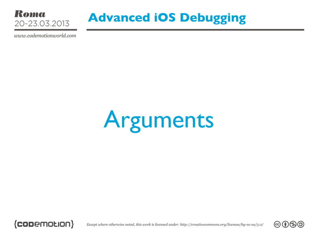 Advanced iOS Debugging Arguments