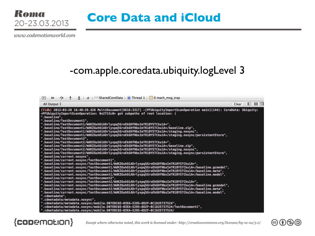 Core Data and iCloud -com.apple.coredata.ubiqui...