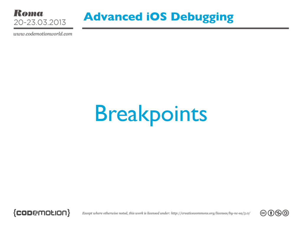 Advanced iOS Debugging Breakpoints