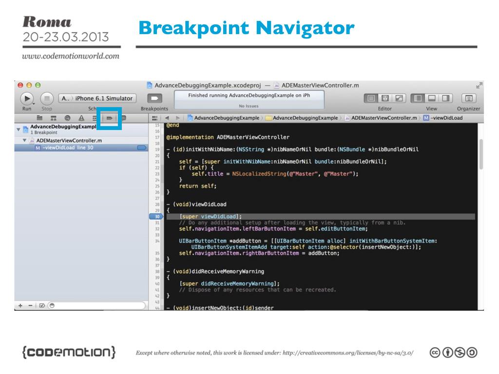 Breakpoint Navigator
