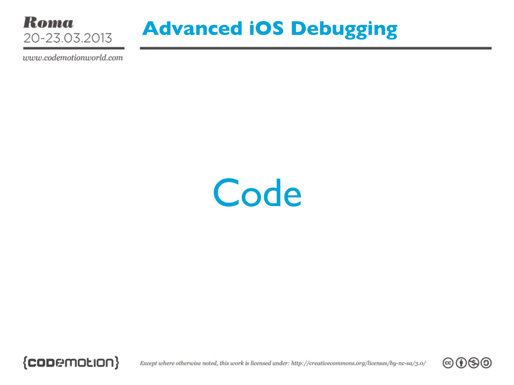 Advanced iOS Debugging Code