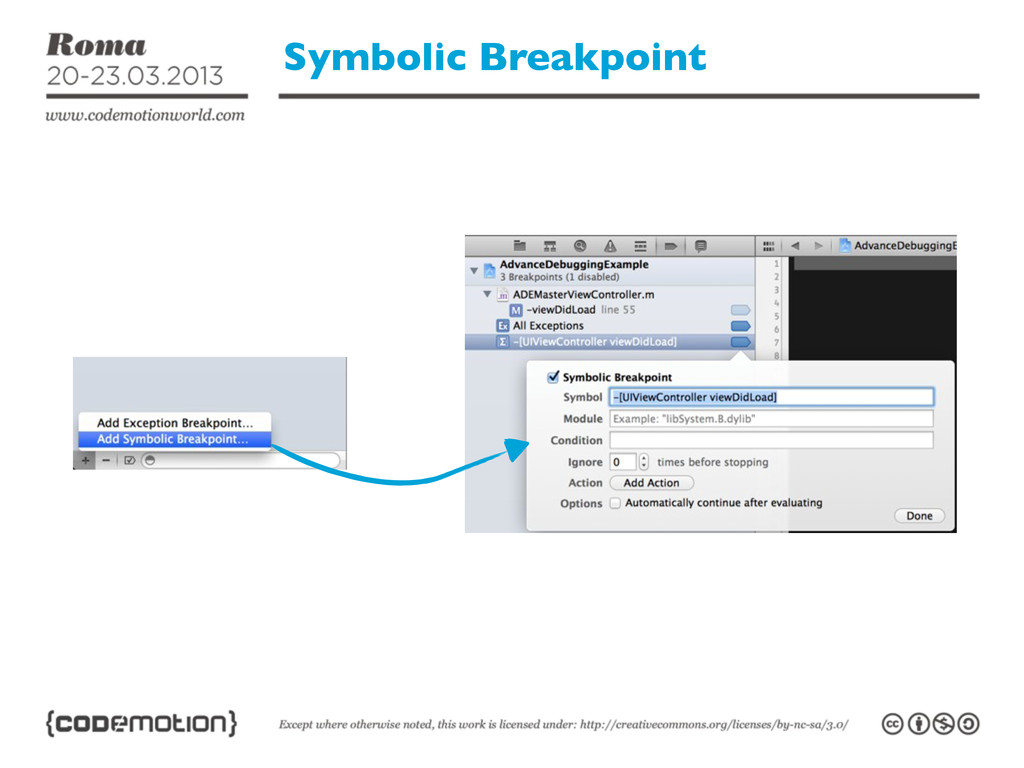 Symbolic Breakpoint