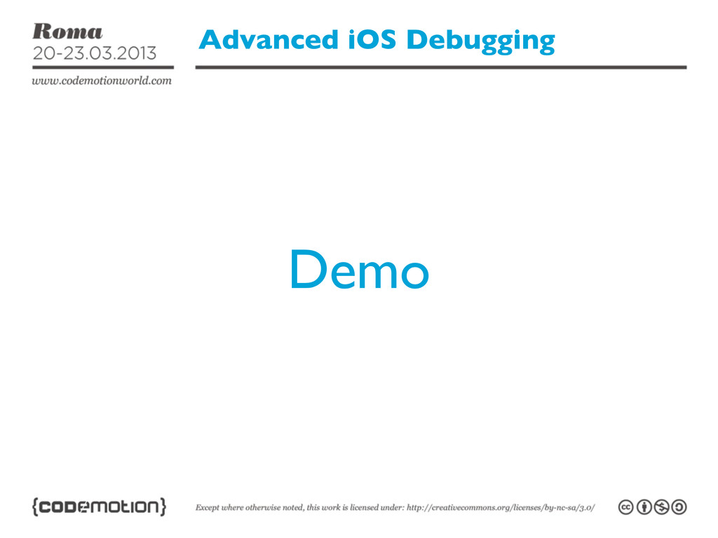 Advanced iOS Debugging Demo