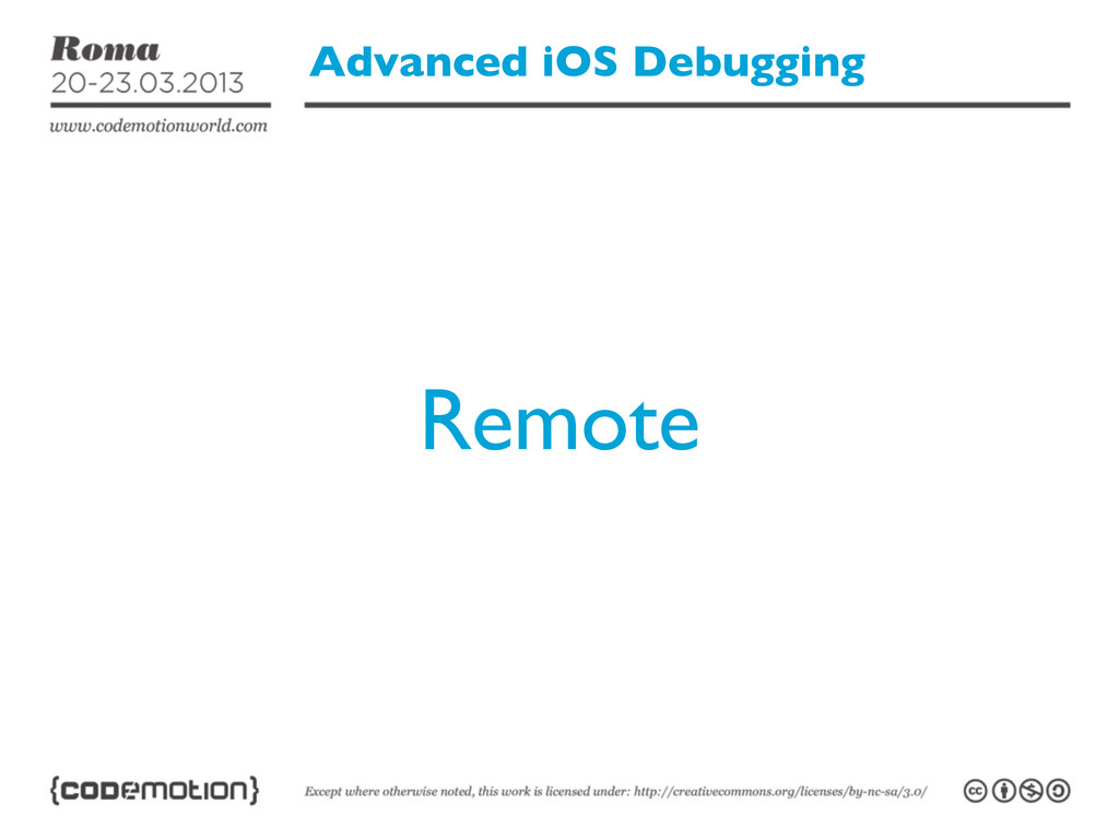 Advanced iOS Debugging Remote
