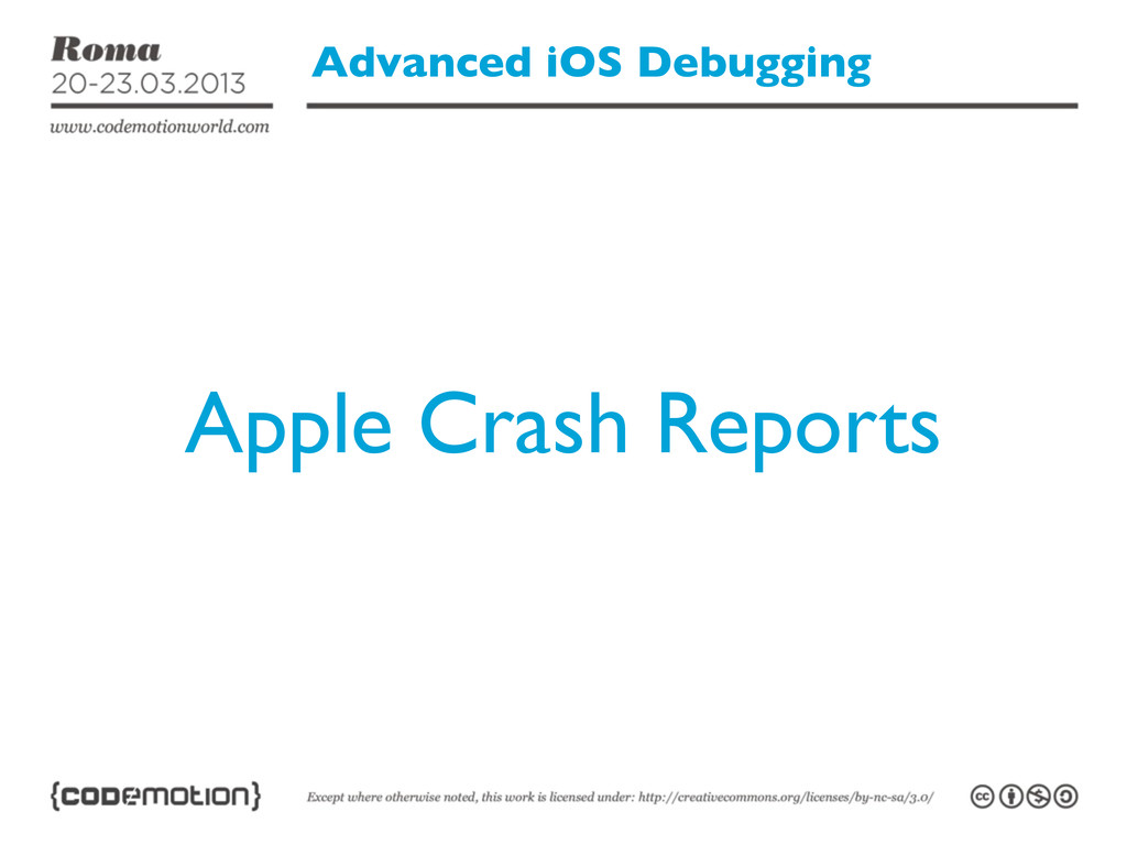 Advanced iOS Debugging Apple Crash Reports