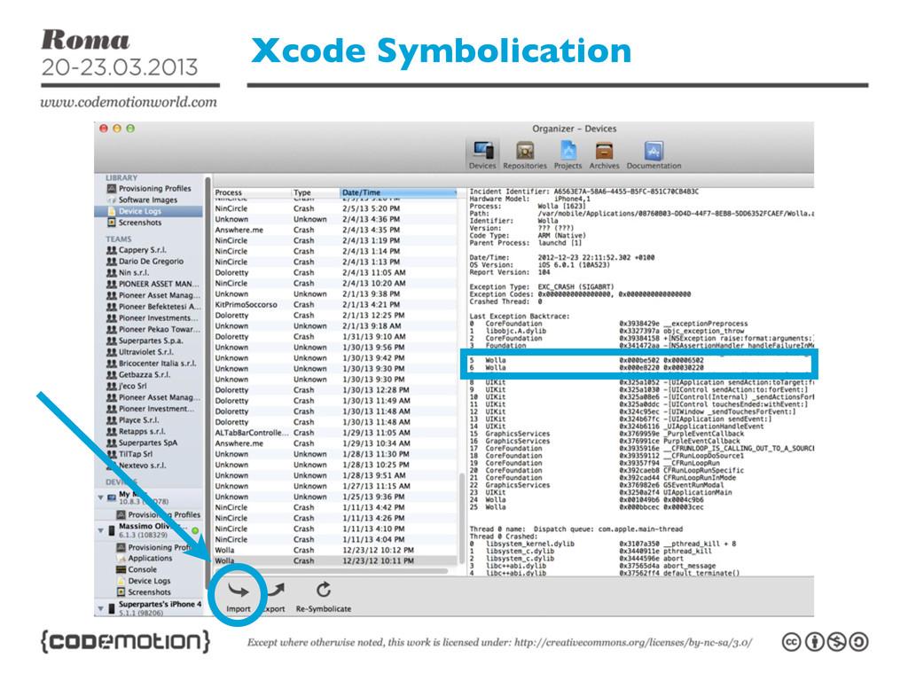 Xcode Symbolication