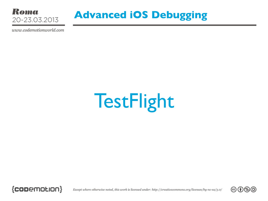 Advanced iOS Debugging TestFlight