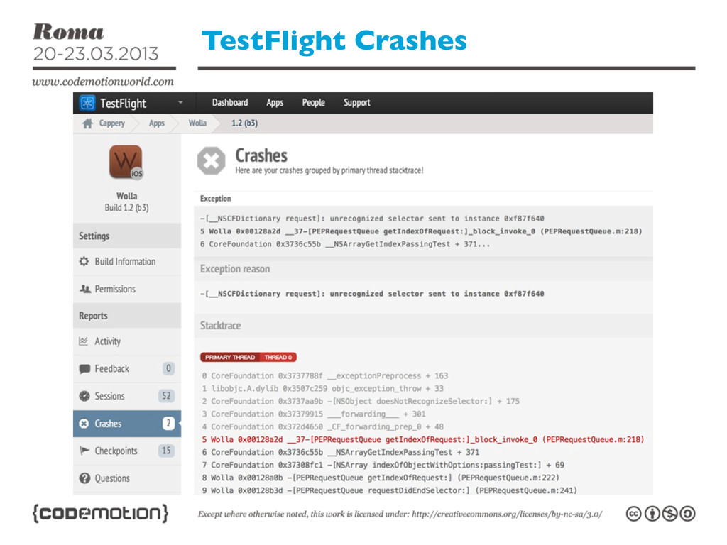 TestFlight Crashes
