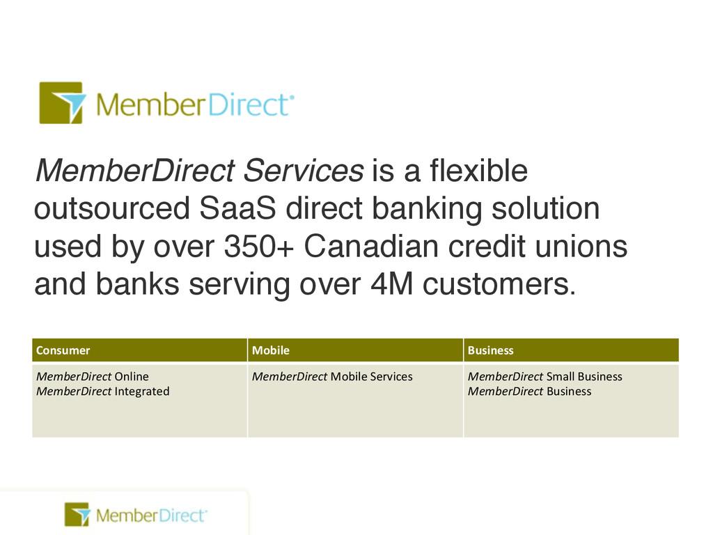 Consumer Mobile Business MemberDirect!Online Me...