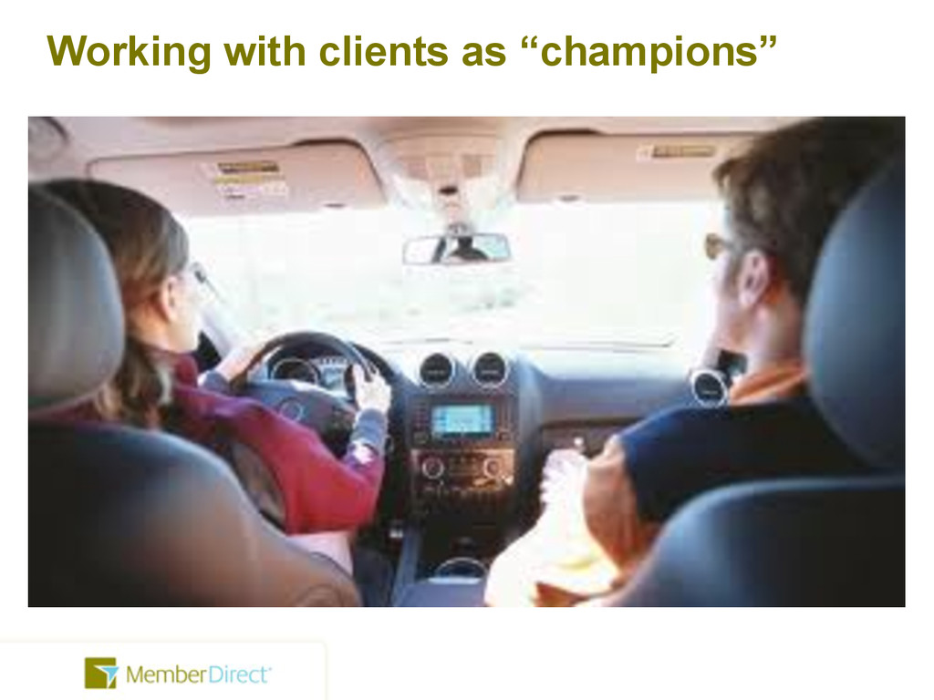 """Working with clients as """"champions"""""""
