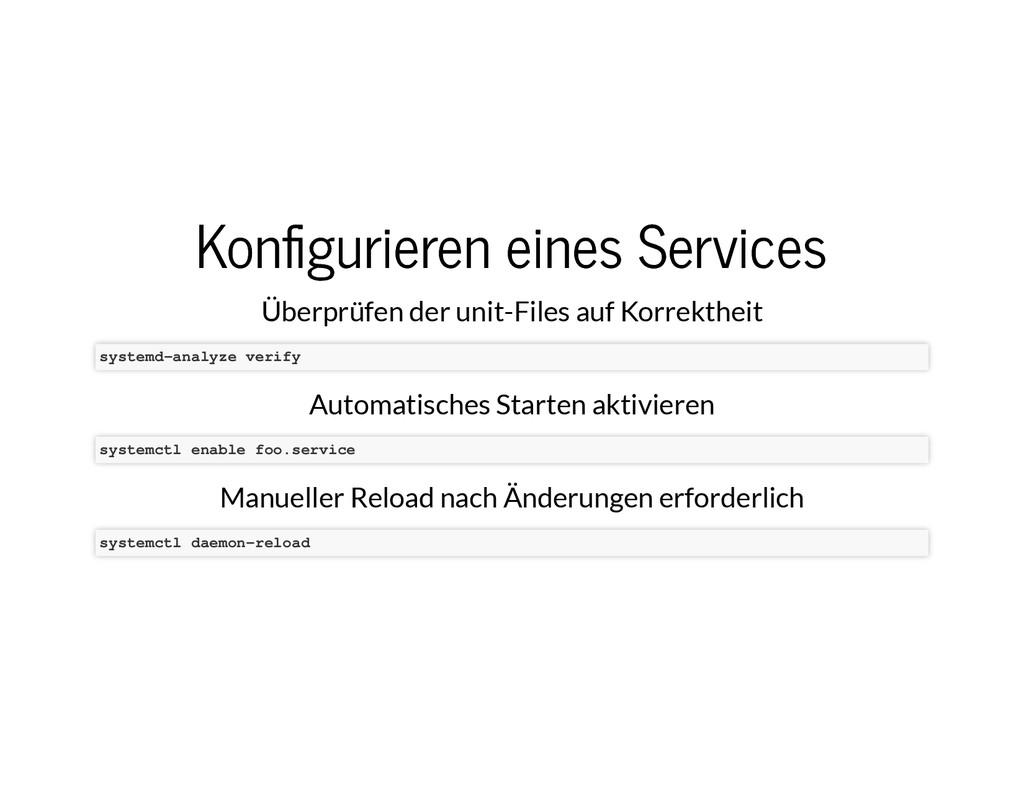 Kon�gurieren eines Services Kon�gurieren eines ...