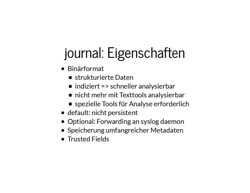 journal: Eigenschaften journal: Eigenschaften B...