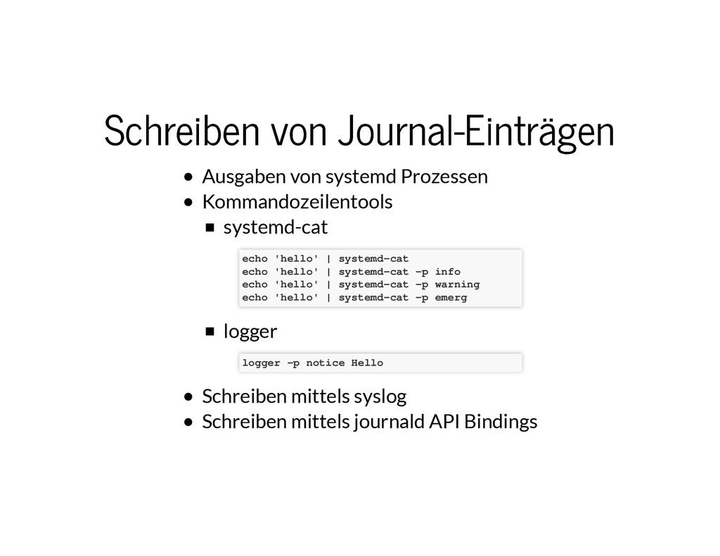 Schreiben von Journal-Einträgen Schreiben von J...