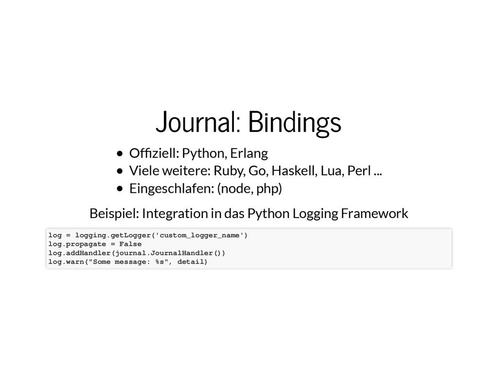 Journal: Bindings Journal: Bindings Of�ziell: P...