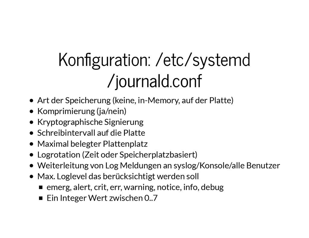Kon�guration: /etc/systemd Kon�guration: /etc/s...