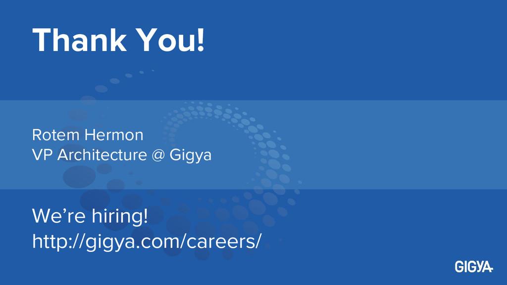Thank You! We're hiring! http://gigya.com/caree...
