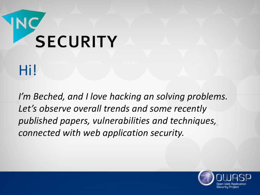 Hi! I'm Beched, and I love hacking an solving p...