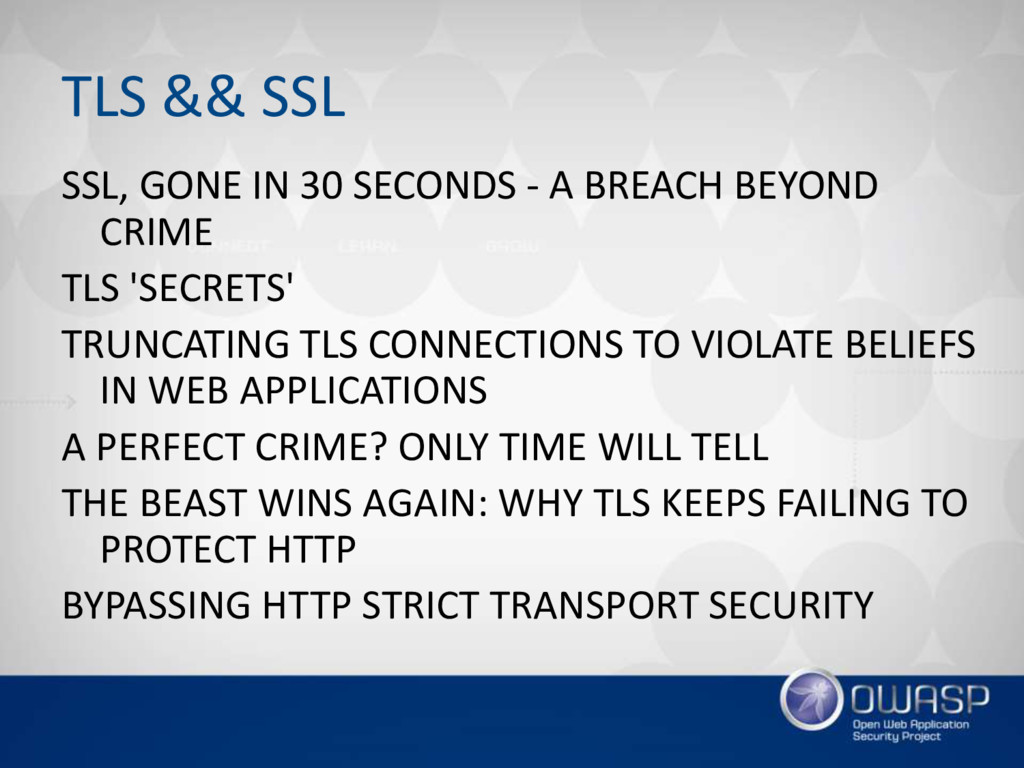 TLS && SSL SSL, GONE IN 30 SECONDS - A BREACH B...