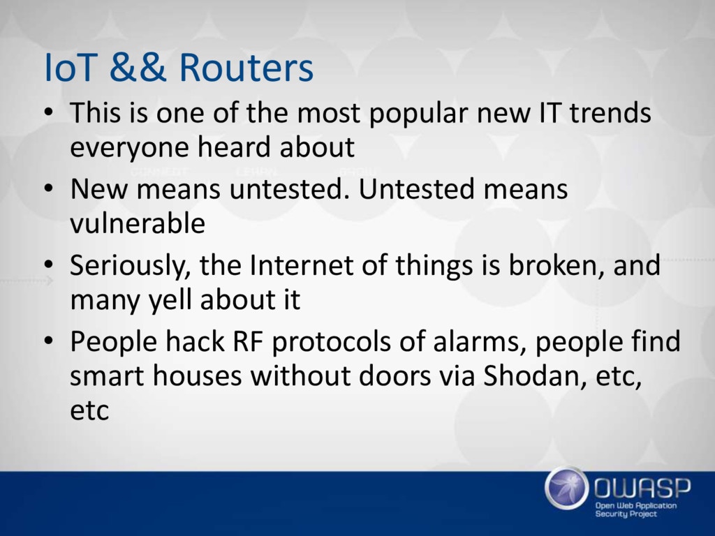 IoT && Routers • This is one of the most popula...