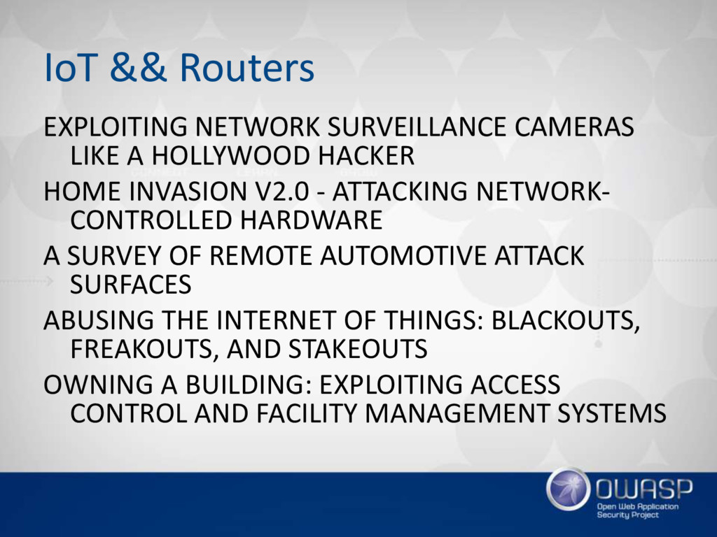 IoT && Routers EXPLOITING NETWORK SURVEILLANCE ...