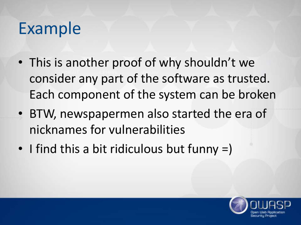 Example • This is another proof of why shouldn'...