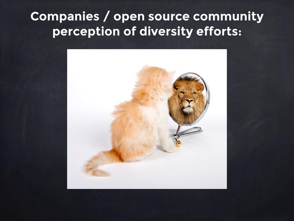 Companies / open source community perception of...