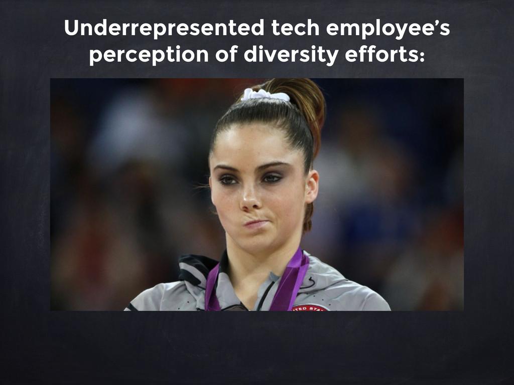 Underrepresented tech employee's perception of ...